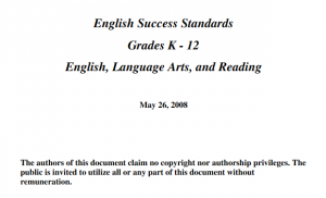 English Success Standards