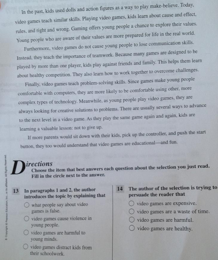 argumentative essay 3rd grade