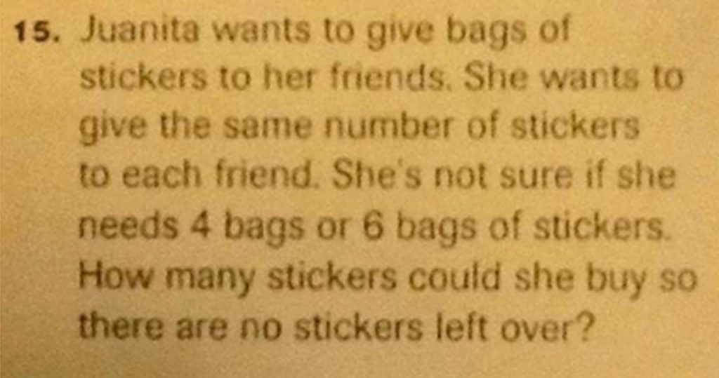 Common Core Math Juanita