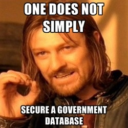 One Does Not Simply Secure a Government Database