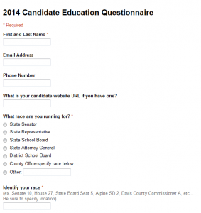 2014 Candidate Survey