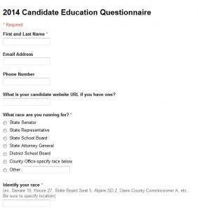 2014 Candidate Survey