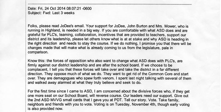 asd letter 1 | Utahns Against Common Core