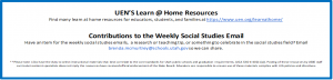 UEN's learn at home resources